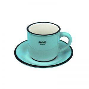 Cabanaz espresso kop en schotel blauw