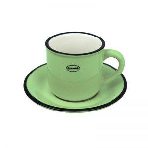 Cabanaz espresso kop en schotel groen